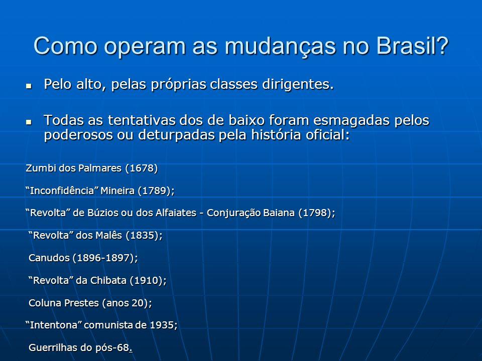 Como operam as mudanças no Brasil