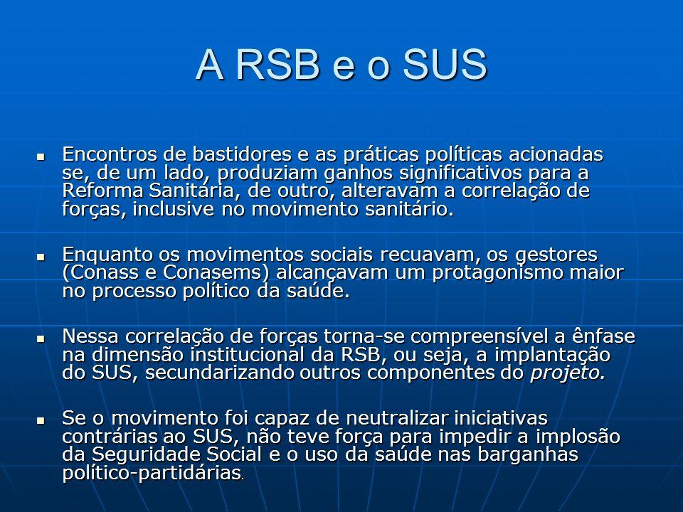 A RSB e o SUS