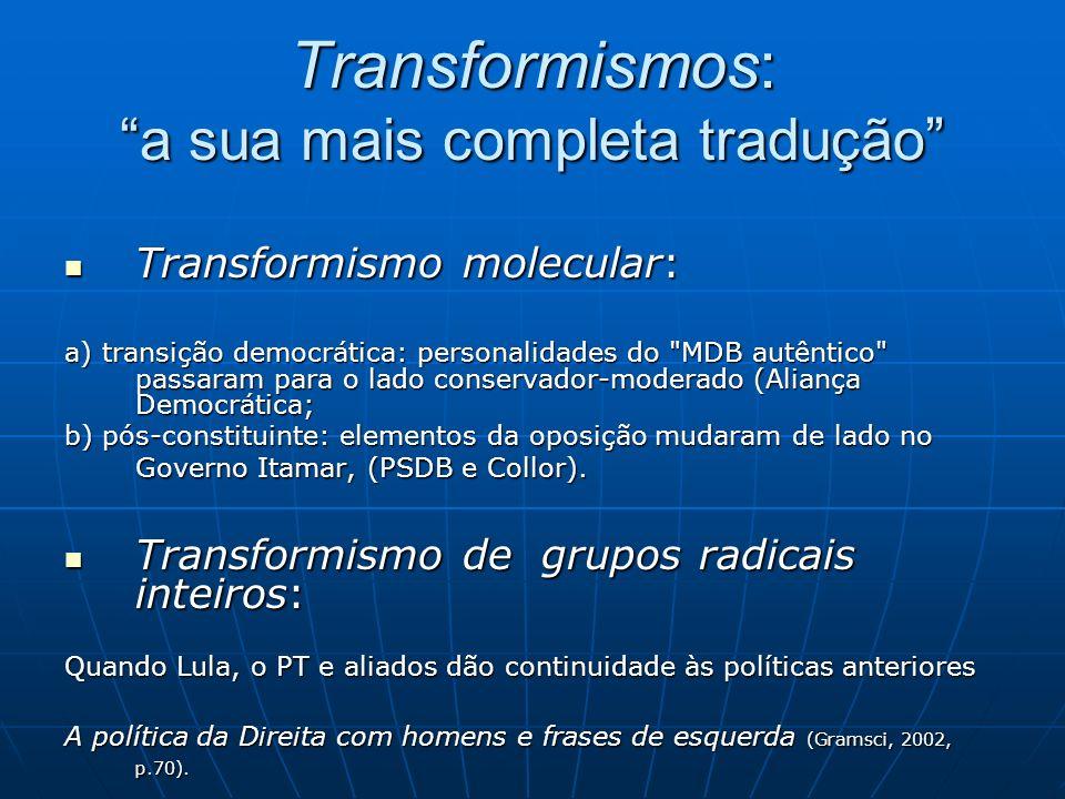 Transformismos: a sua mais completa tradução