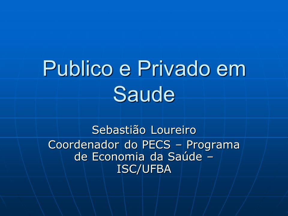 Publico e Privado em Saude