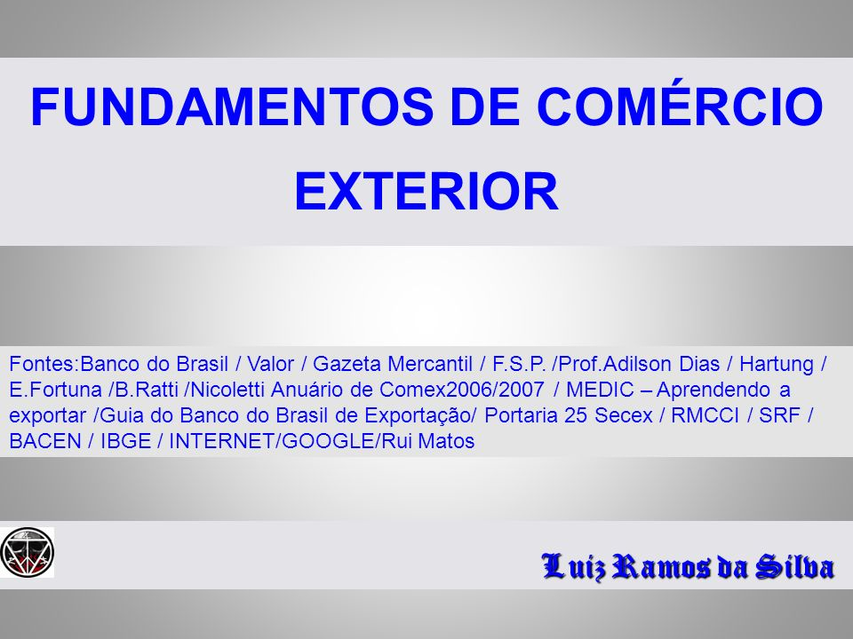 FUNDAMENTOS DE COMÉRCIO EXTERIOR