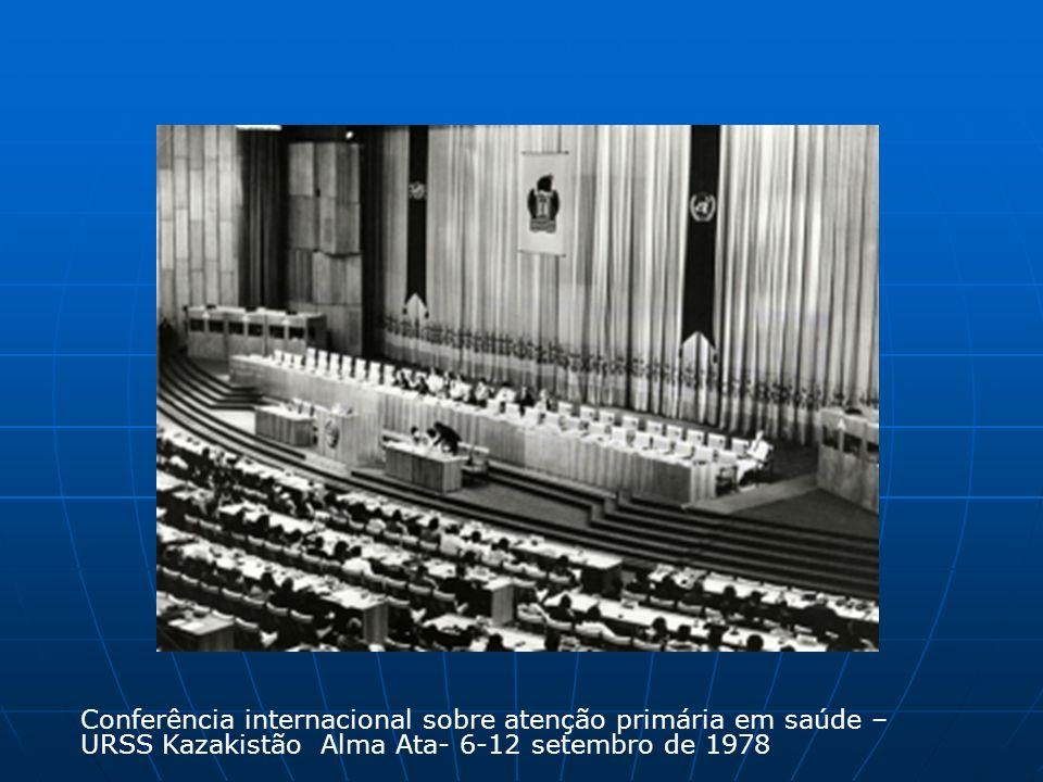 Conferência internacional sobre atenção primária em saúde – URSS Kazakistão Alma Ata- 6-12 setembro de 1978