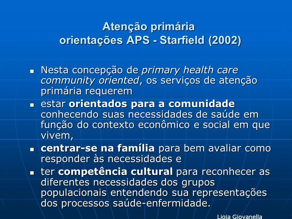 Atenção primária orientações APS - Starfield (2002)