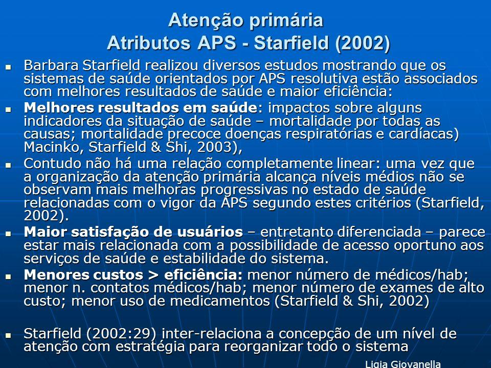 Atenção primária Atributos APS - Starfield (2002)