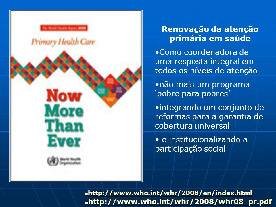 Renovação da atenção primária em saúde