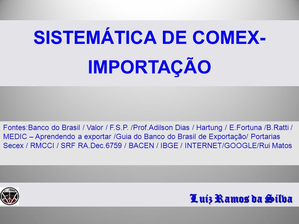 SISTEMÁTICA DE COMEX-IMPORTAÇÃO