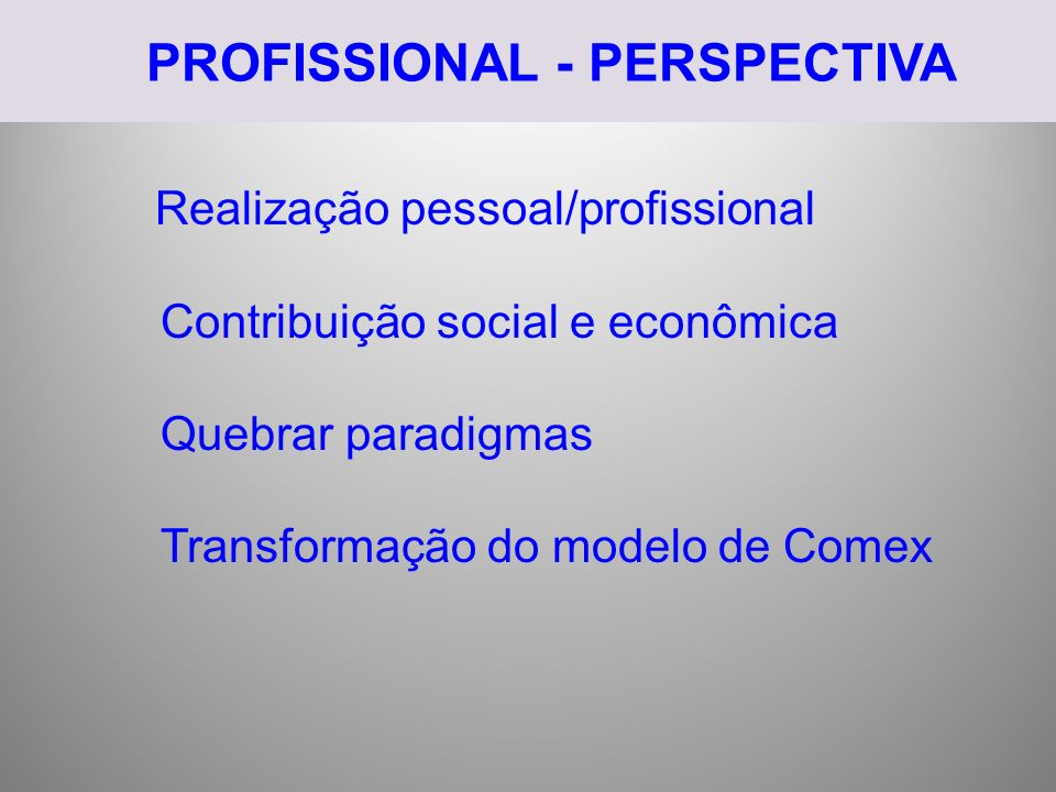 PROFISSIONAL - PERSPECTIVA