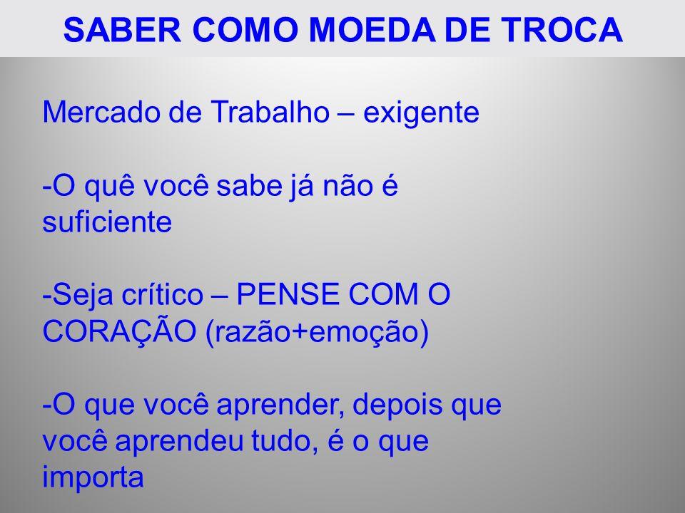 SABER COMO MOEDA DE TROCA