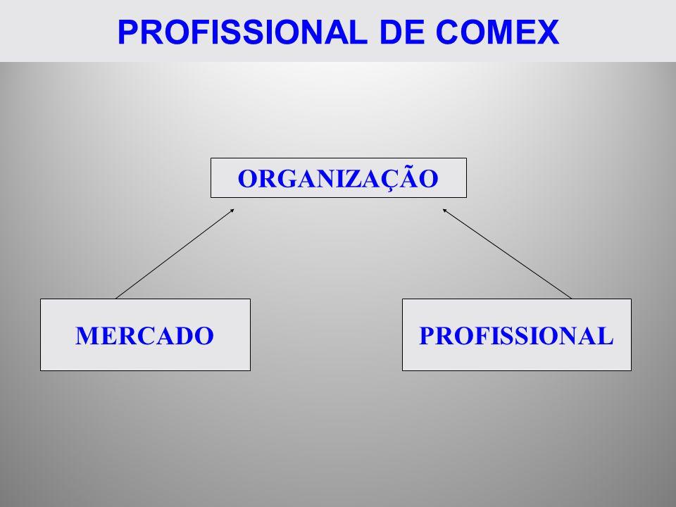 PROFISSIONAL DE COMEX ORGANIZAÇÃO MERCADO PROFISSIONAL
