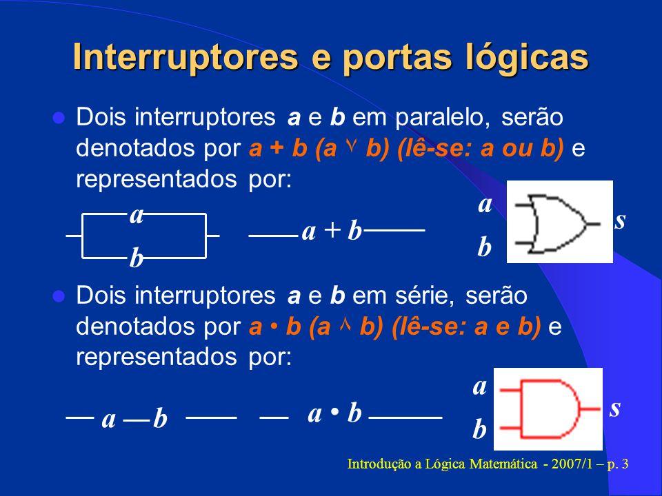 Interruptores e portas lógicas