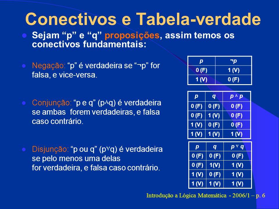 Conectivos e Tabela-verdade