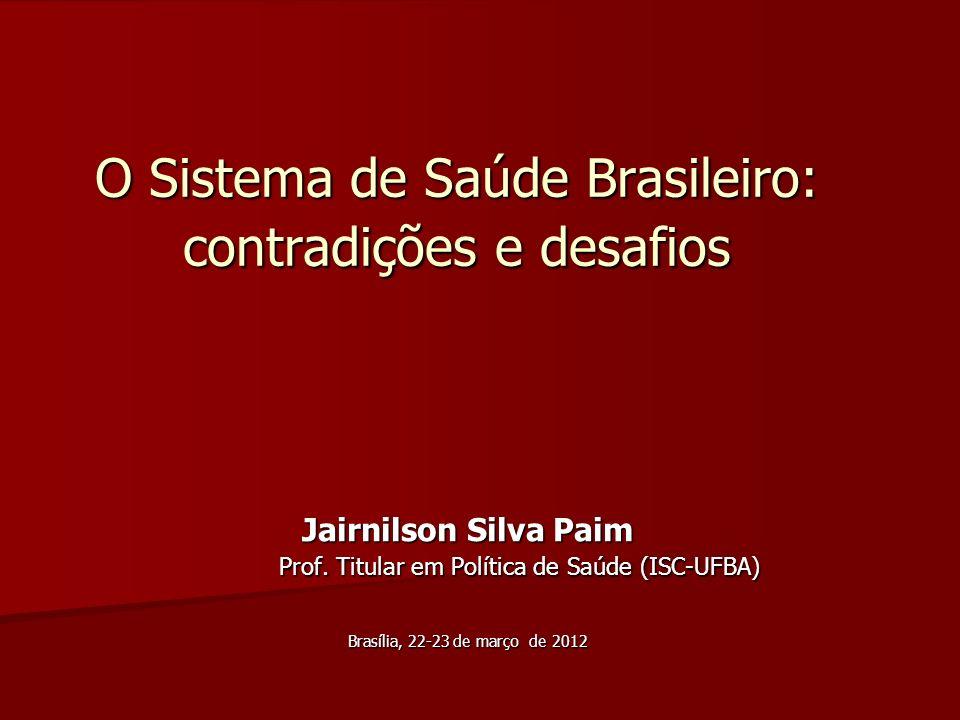 O Sistema de Saúde Brasileiro: contradições e desafios