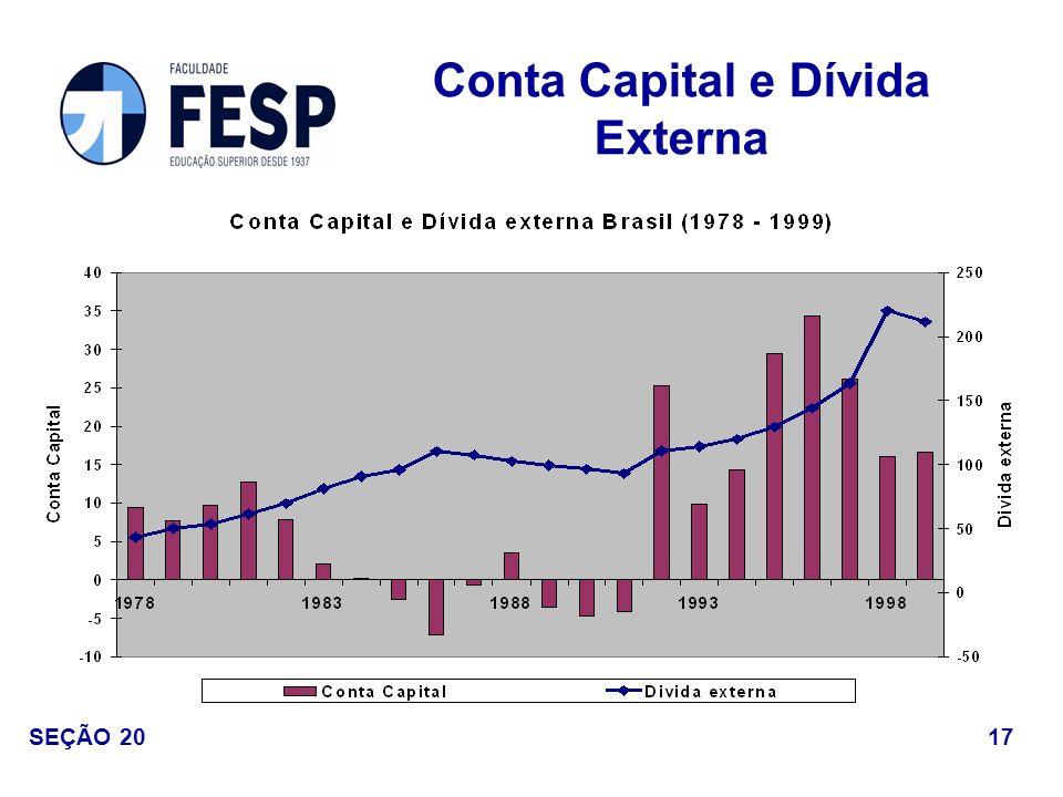 Conta Capital e Dívida Externa