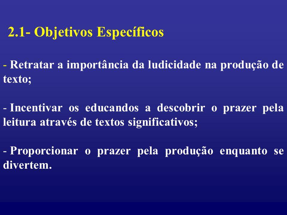 2.1- Objetivos Específicos