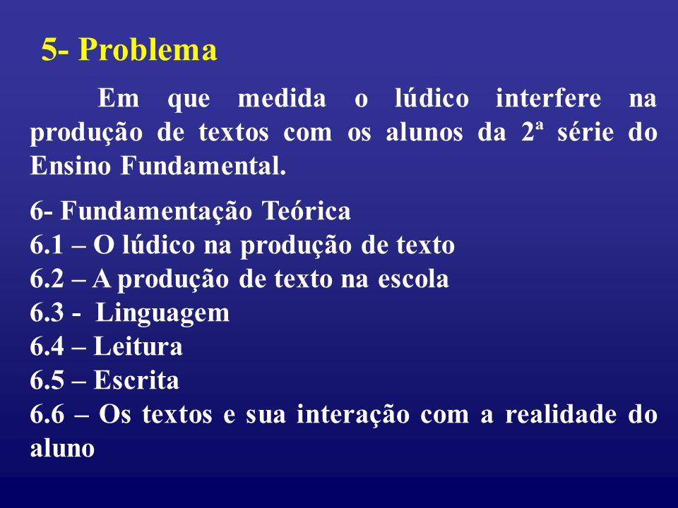 5- Problema 6- Fundamentação Teórica