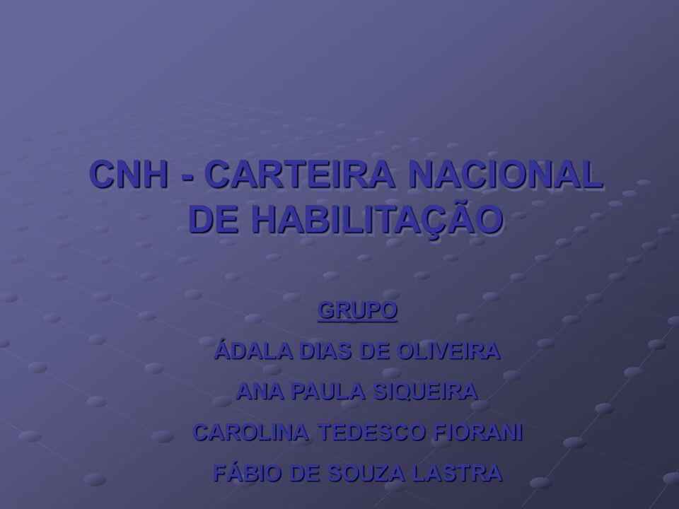 CNH - CARTEIRA NACIONAL DE HABILITAÇÃO CAROLINA TEDESCO FIORANI