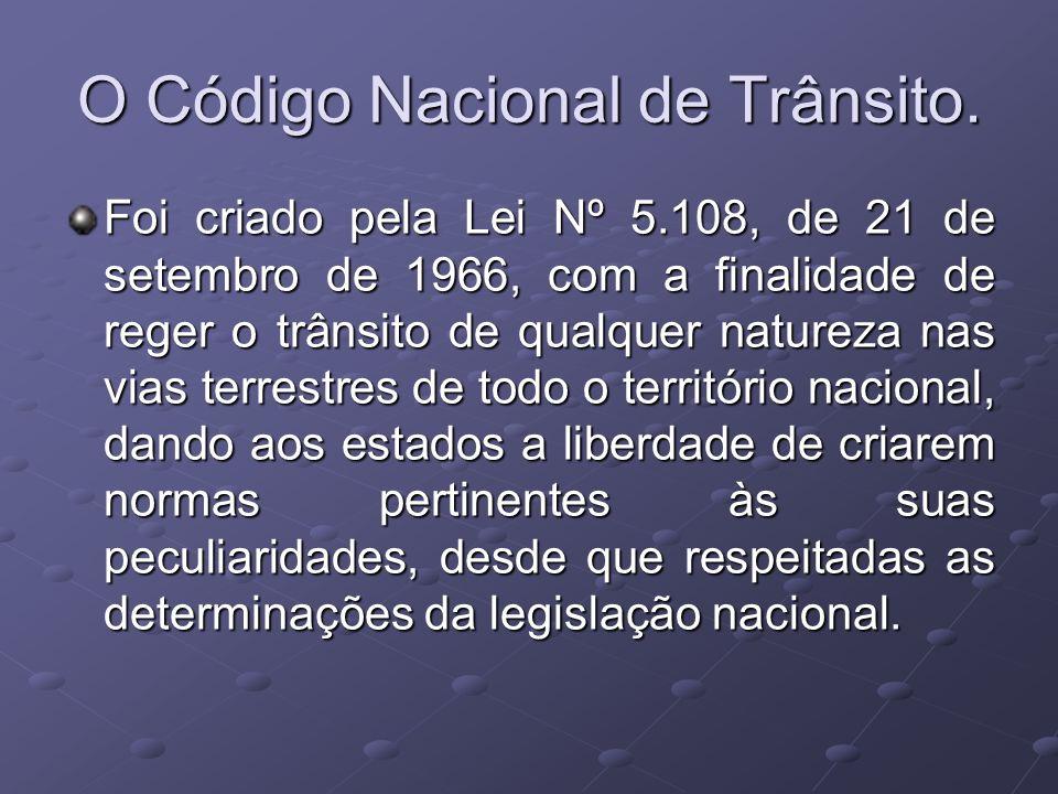 O Código Nacional de Trânsito.