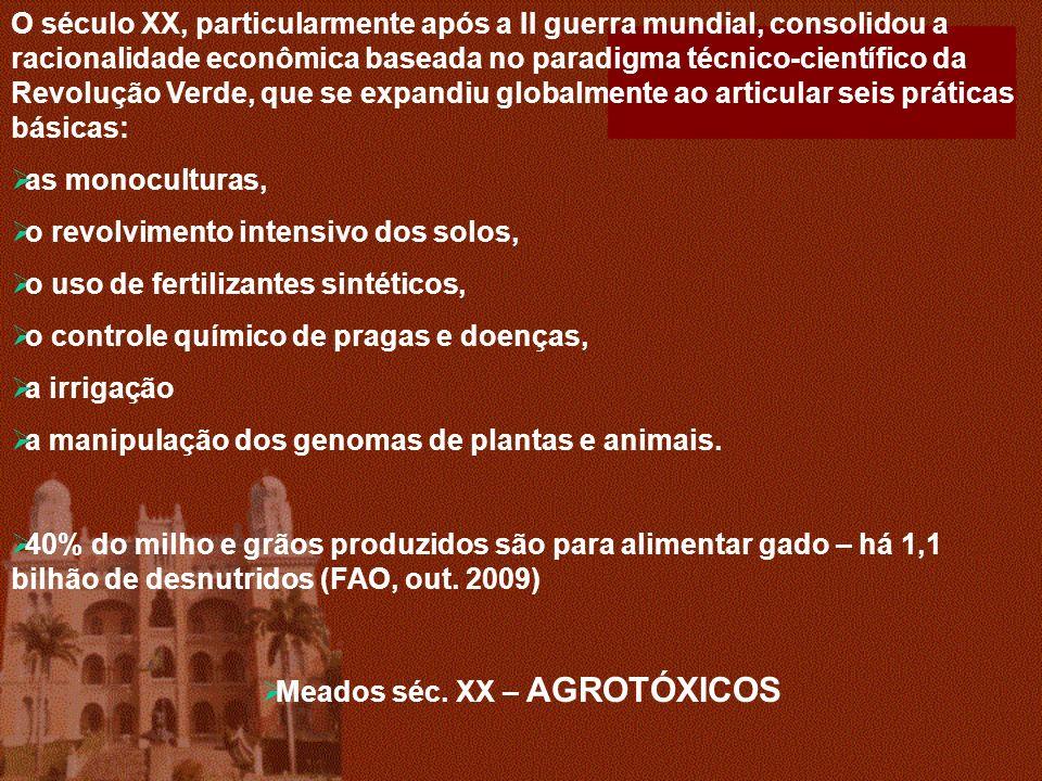 Meados séc. XX – AGROTÓXICOS