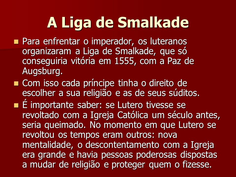 A Liga de Smalkade