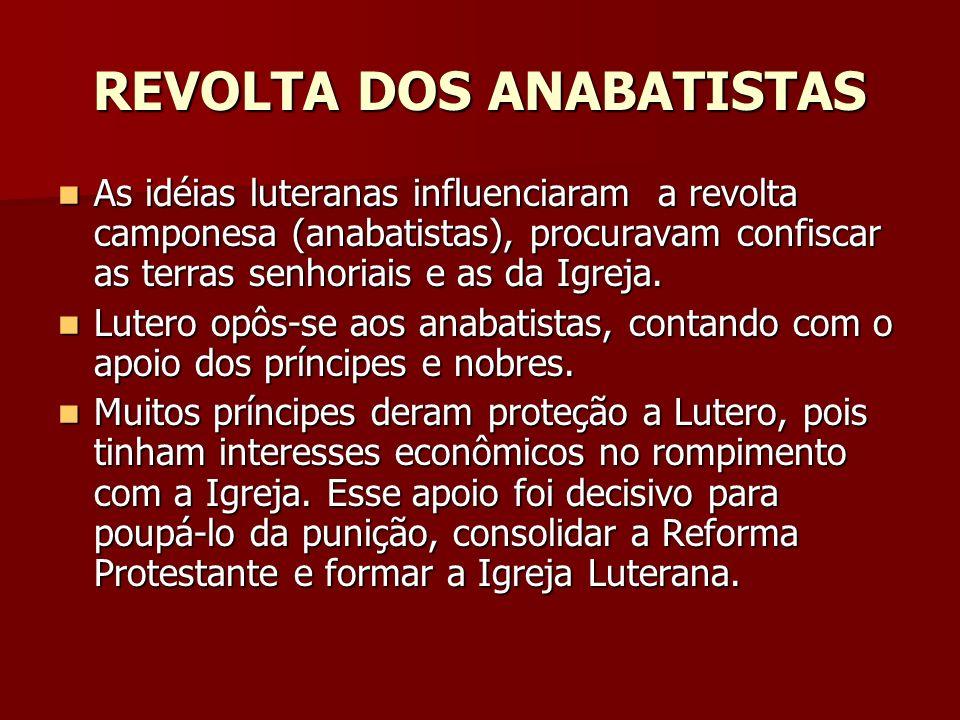 REVOLTA DOS ANABATISTAS