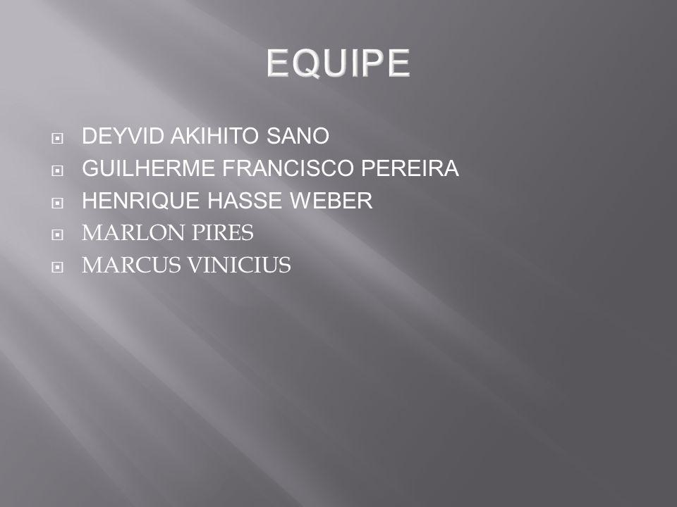 EQUIPE DEYVID AKIHITO SANO GUILHERME FRANCISCO PEREIRA