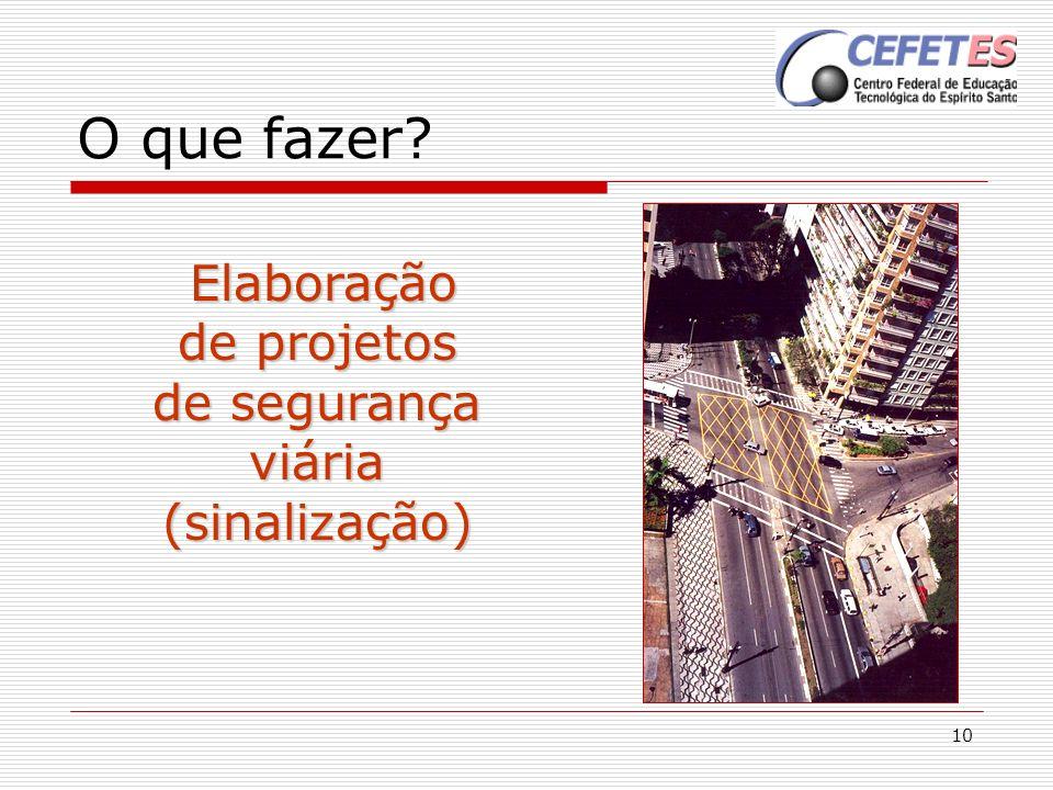 Elaboração de projetos de segurança viária (sinalização)