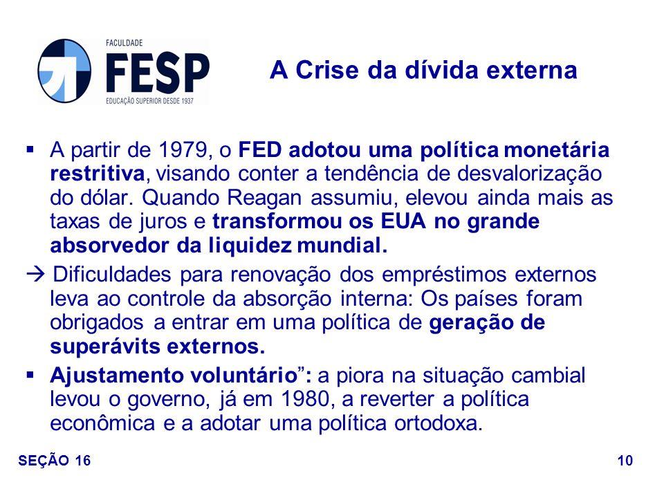 A Crise da dívida externa