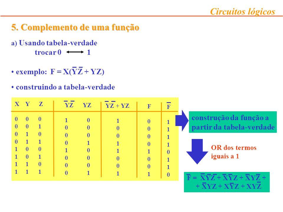 5. Complemento de uma função