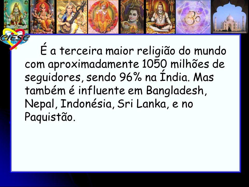 É a terceira maior religião do mundo com aproximadamente 1050 milhões de seguidores, sendo 96% na Índia.