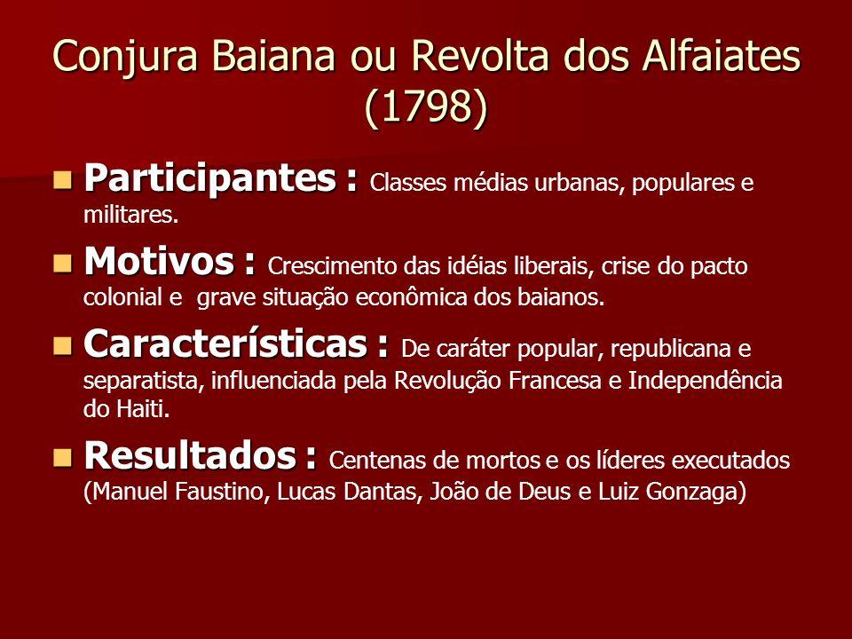 Conjura Baiana ou Revolta dos Alfaiates (1798)