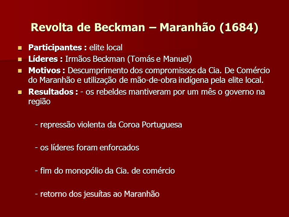 Revolta de Beckman – Maranhão (1684)