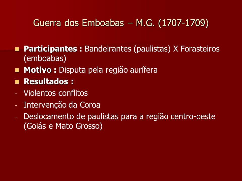 Guerra dos Emboabas – M.G. (1707-1709)
