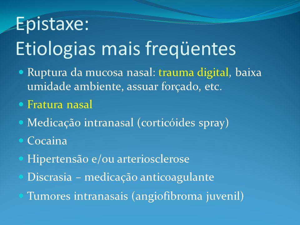 Epistaxe: Etiologias mais freqüentes