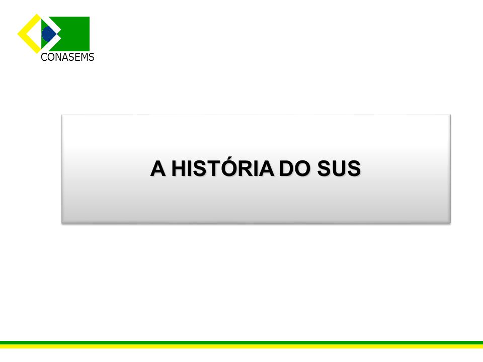 A HISTÓRIA DO SUS