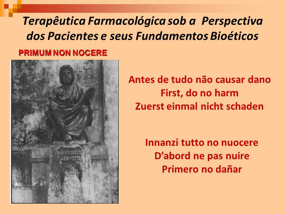 Terapêutica Farmacológica sob a Perspectiva dos Pacientes e seus Fundamentos Bioéticos