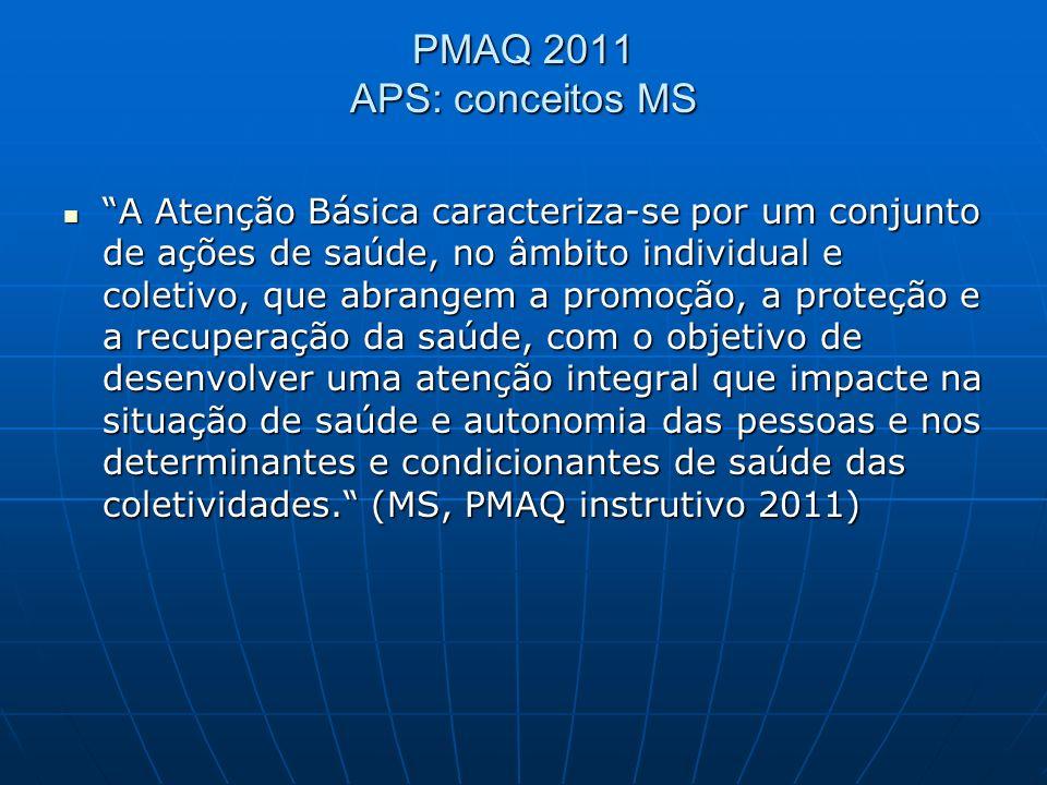PMAQ 2011 APS: conceitos MS