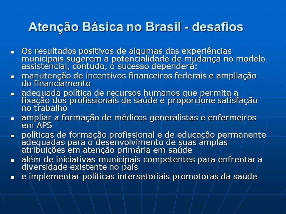 Atenção Básica no Brasil - desafios