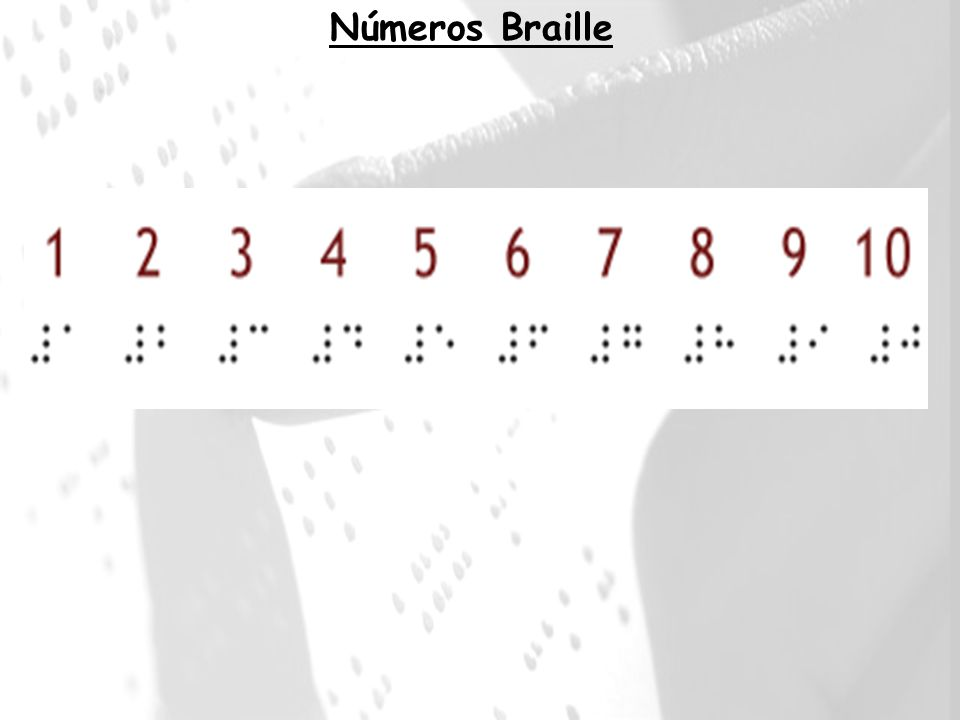 Números Braille