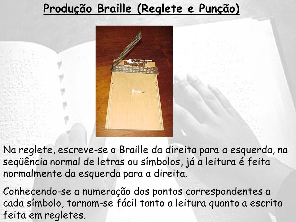 Produção Braille (Reglete e Punção)