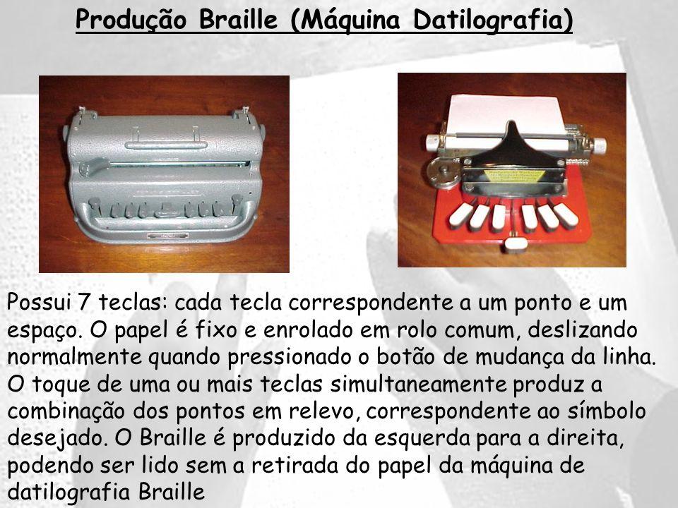 Produção Braille (Máquina Datilografia)