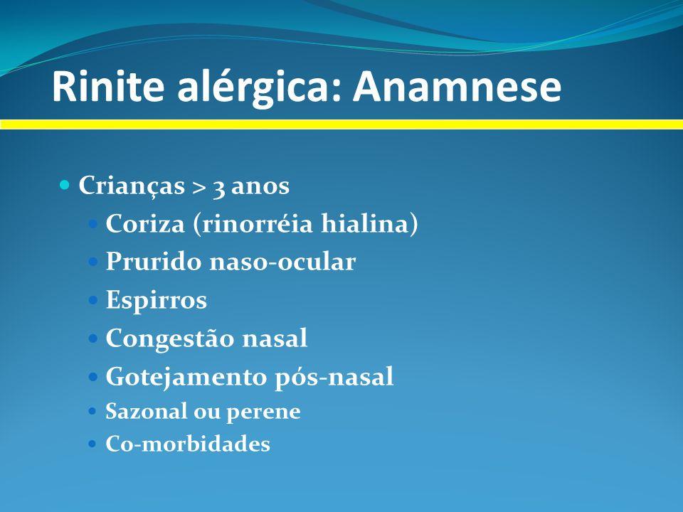 Rinite alérgica: Anamnese