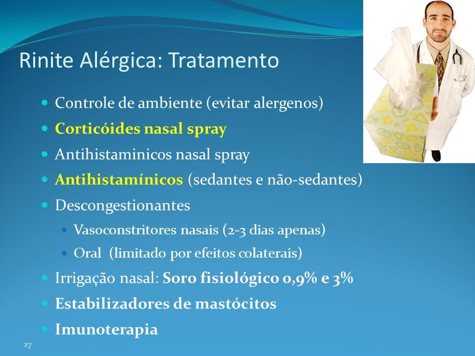 Rinite Alérgica: Tratamento