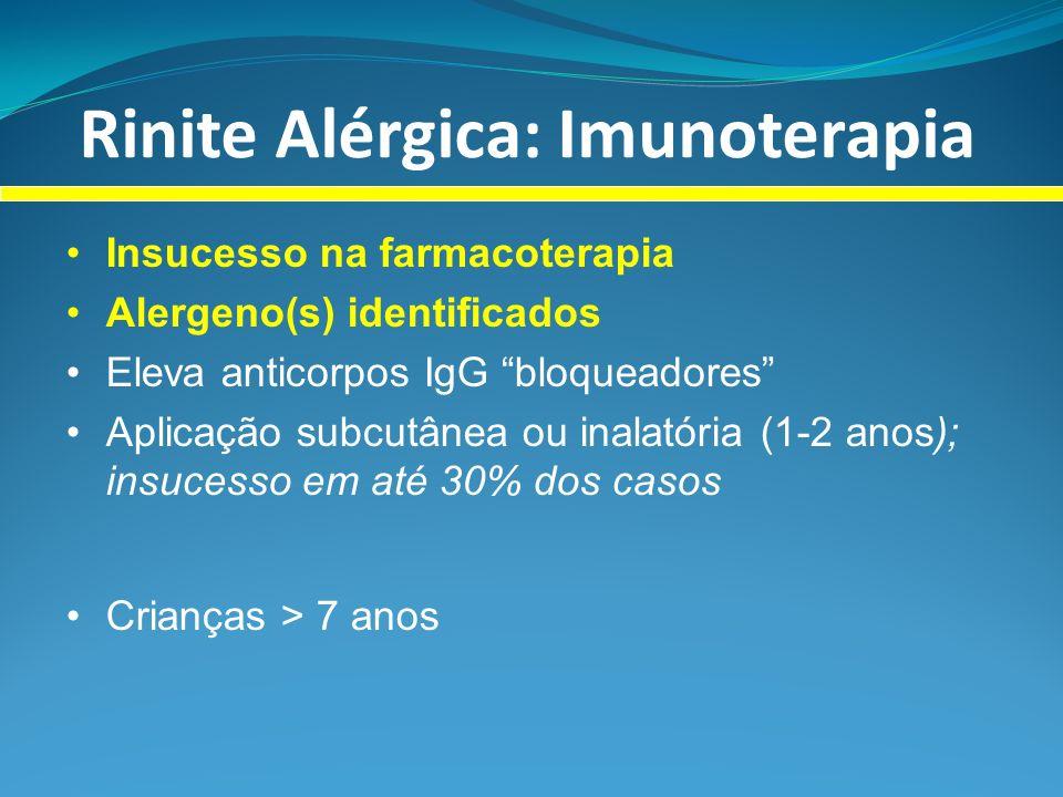 Rinite Alérgica: Imunoterapia