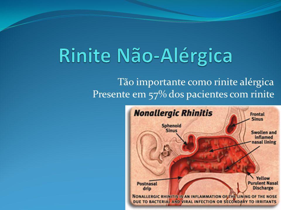 Rinite Não-Alérgica Tão importante como rinite alérgica