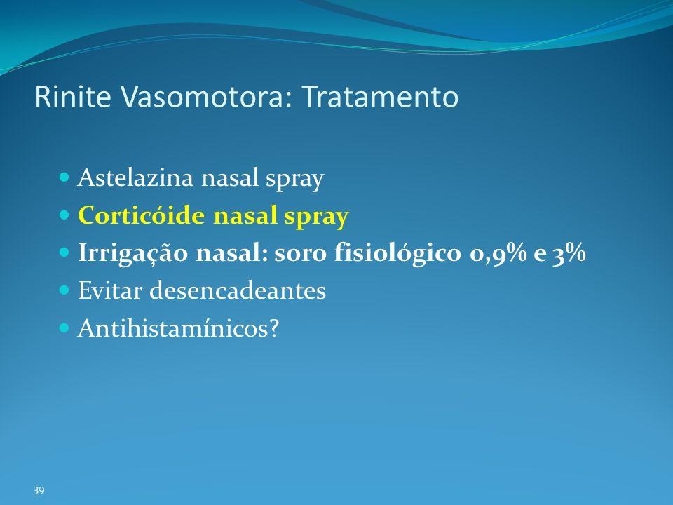 Rinite Vasomotora: Tratamento