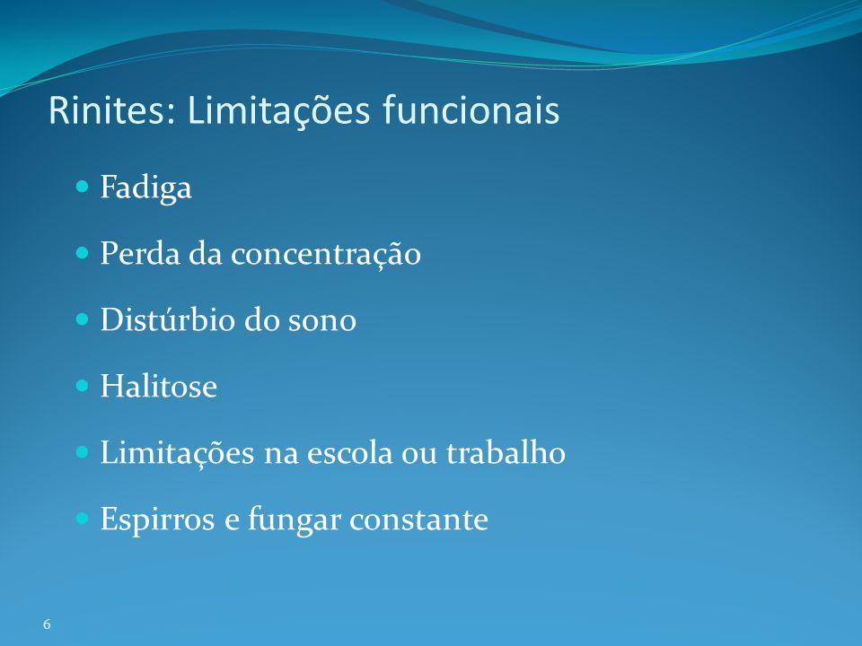 Rinites: Limitações funcionais