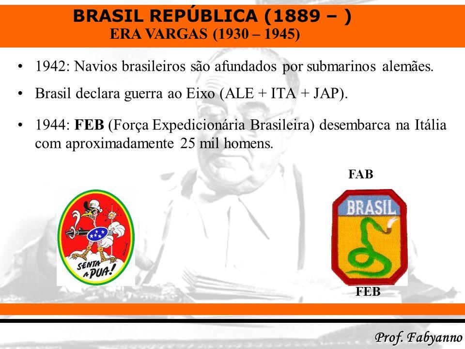 1942: Navios brasileiros são afundados por submarinos alemães.
