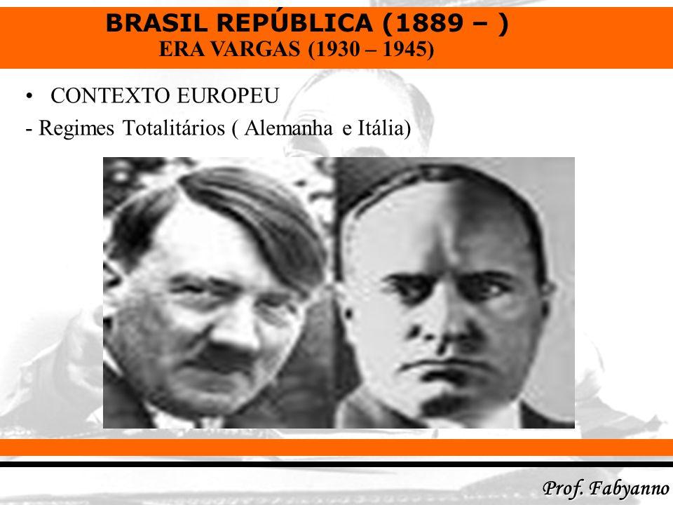 CONTEXTO EUROPEU - Regimes Totalitários ( Alemanha e Itália)