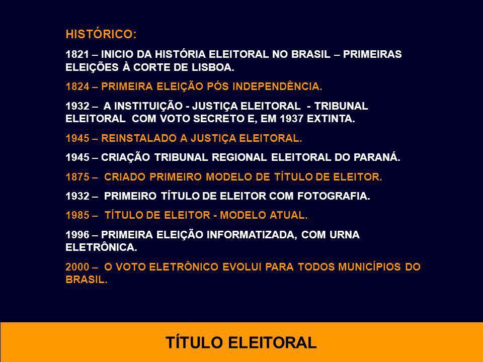 TÍTULO ELEITORAL HISTÓRICO: