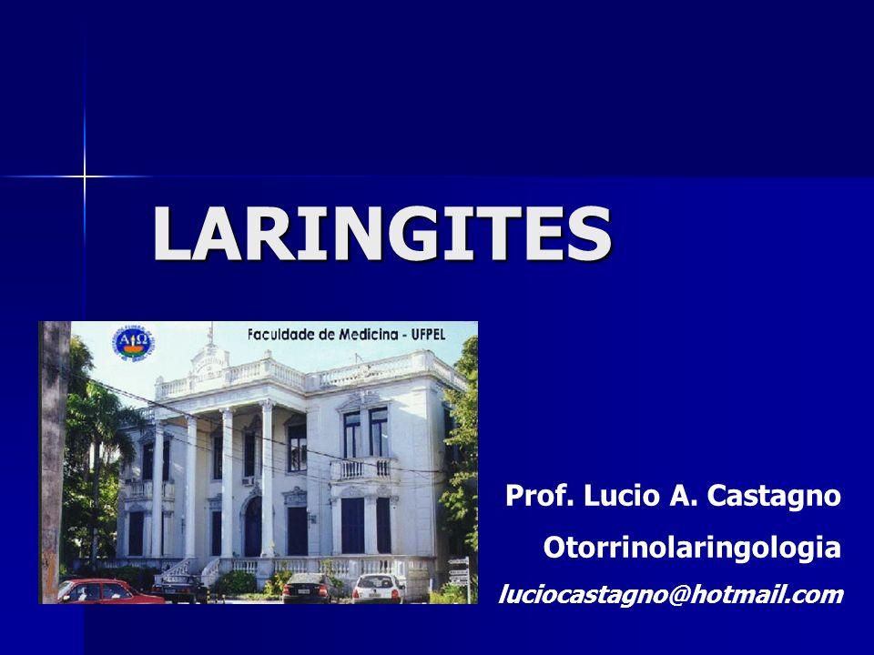 LARINGITES Prof. Lucio A. Castagno Otorrinolaringologia